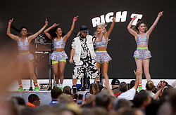 Jax Jones on stage during Capital's Summertime Ball. The world's biggest stars perform live for 80,000 Capital listeners at Wembley Stadium at the UK's biggest summer party.