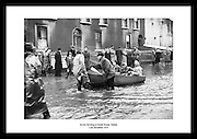 Alvorlig oversvømmelse på North Strand i Dublin 1954. En av de værste værhendelsene i irsk.historie.