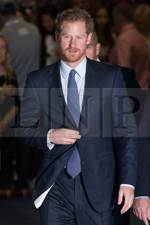© Licensed to London News Pictures. 07/12/2016. HRH PRINCE HARRY attends the ICAP Annual Charity Day where the companies revenue and commissions for that day are given to select charities. London, UK. Photo credit: Ray Tang/LNP