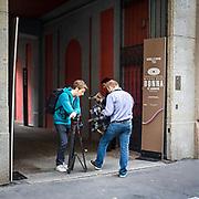 Fotografi al lavoro durante la setimana della moda a Milano<br /> <br /> Photographers at work during the Milan fashion Week.