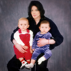 EXCLUSIVE: ** PREMIUM RATES APPLY ** Michael Jackson - who died 10 years ago today - poses with his children in this set of incredible and extraordinary family photographs. The exclusive images show the late singer posing at home in his Neverland Ranch with daughter Paris and son Prince when they are just toddlers. In other pictures Jackson is seen posing with former nurse Debbie Rowe who is the mother to Jackson's eldest children. The children are also pictured at the star's luxury home in Los Olivos, California, at a birthday party, riding on a fun fair ride and even taking a trip on a train that spanned a large area of the ranch. Other photographs in the set show Paris and Prince with their father in New York. A final shot shows Jackson cutting a solitary figure posing on his own in the grounds of his world famous home. Jackson died aged 50 on June 25, 2009 from acute intoxication from propofol given to him by his personal physician Dr Conrad Murray. 25 Jun 2019 Pictured: MJ/Prince/Paris- Las Vegas- approx. 2002. Photo credit: MEGA TheMegaAgency.com +1 888 505 6342