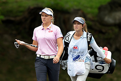 July 14, 2018 - Sylvania, Ohio, United States - Brooke Henderson of Canada walks on the second hole during the third round of the Marathon LPGA Classic golf tournament at Highland Meadows Golf Club in Sylvania, Ohio USA, on Saturday, July 14, 2018. (Credit Image: © Jorge Lemus/NurPhoto via ZUMA Press)