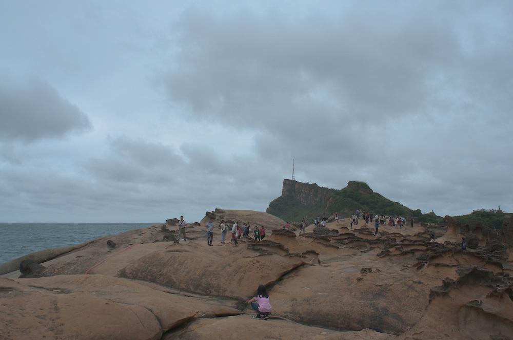 Yehliu, the bizarre northern coast of Taiwan, very close to Taipei.<br /> <br /> Full photoessay at http://xpatmatt.com/photos/jialishui-yehliu-taiwan-geography-photo/