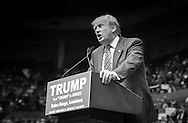 Baton Rouge, LA, Republican presidential candidate Donald Trump at a  campaign rally.