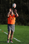 Richard Hibbard of Wales in action. Wales rugby team training  at the Vale resort, Hensol, near Cardiff , South Wales on Tuesday 12th November 2013. pic by Andrew Orchard, Andrew Orchard sports photography,