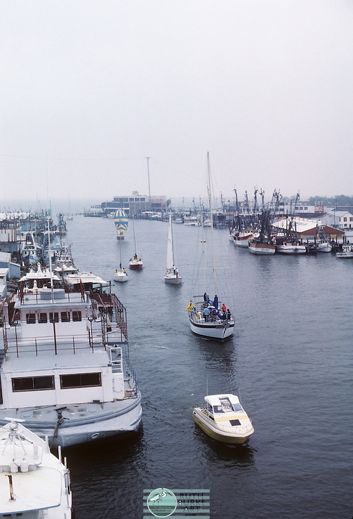 1980-Seabrook and Kemah Channel in Winter with Pleasure and Fishing Boats