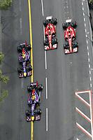 VETTEL Sebastian (Ger) Red Bull Renault Rb10 Action RICCIARDO Daniel (Aus) Red Bull Renault Rb10 Action ALONSO Fernando (Spa) Ferrari F14T Action RAIKKONEN Kimi (Fin) Ferrari F14T Action during the 2014 Formula One World Championship, Grand Prix of Monaco from May 21st to 25th 2014, in Monaco. <br /> Norway only