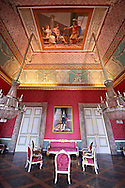 """""""The second antechamber of Joachim Murat"""". The walls have frescoes by Giuseppe Cammarano with a reproduction of the abduction of Helen. the portrait on the wall of Joseph Bonaparte is by Costanzo Angelini.  The Bourbon Kings of Naples Royal Palace of Caserta, Italy. .<br /> <br /> Visit our ITALY HISTORIC PLACES PHOTO COLLECTION for more   photos of Italy to download or buy as prints https://funkystock.photoshelter.com/gallery-collection/2b-Pictures-Images-of-Italy-Photos-of-Italian-Historic-Landmark-Sites/C0000qxA2zGFjd_k<br /> <br /> <br /> Visit our EARLY MODERN ERA HISTORICAL PLACES PHOTO COLLECTIONS for more photos to buy as wall art prints https://funkystock.photoshelter.com/gallery-collection/Modern-Era-Historic-Places-Art-Artefact-Antiquities-Picture-Images-of/C00002pOjgcLacqI"""