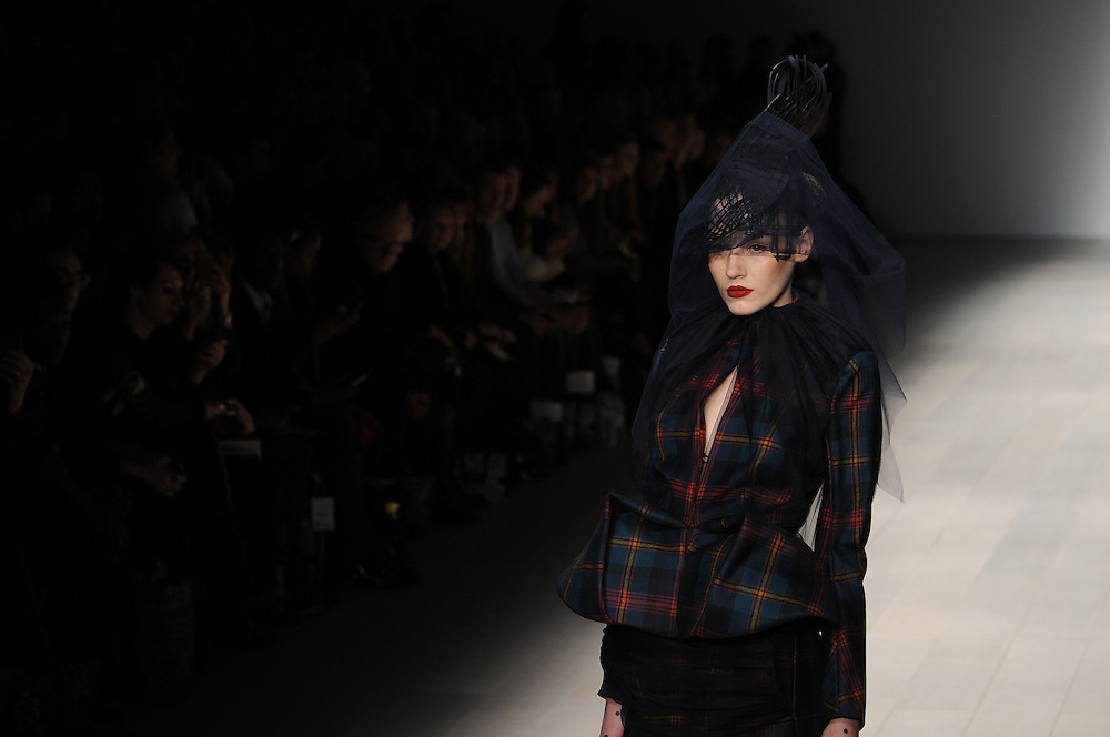 Models walk the runway for Corrie Nielsen AW 2012 fashion show during London Fashion Week, London, UK. 17/02/2012 Anne-Marie Michel/CatchlightMedia