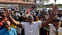 South Africa - Pretoria - 23 October 2020. Members of ECG church and followers of Shepard Bushiri and his wife Mary picketing outside Pretoria Magistrate's court during of their appearance. <br /> <br /> Pictures: Oupa Mokoena/African News Agency(ANA)
