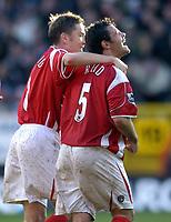 Photo: Olly Greenwood.<br />Charlton Athletic v Everton. The Barclays Premiership. 25/11/2006. Charlton's Andy Reid celebrates scoring