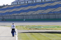 July 13, 2018 - Sparta, Kentucky, United States of America - Jamie McMurray (1) hangs out on pit road before qualifying for the Quaker State 400 at Kentucky Speedway in Sparta, Kentucky. (Credit Image: © Chris Owens Asp Inc/ASP via ZUMA Wire)
