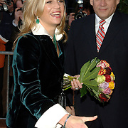 NLD/Amsterdam/20060409 -  Première Black Pinocchio, aankomst kroonprins Willem Alexander en prinses Máxima Zorreguieta