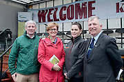 Fergal Morris MSD, Mairead McGuinness MEP, Mary Newman Zoetis and Prof Gerry Boyle, director of Teagasc attending 'SHEEP2015', the major National Sheep Open Day hosted by Teagasc at Athenry on Saturday. Photo:- Andrew Downes / xposure.ie  No Fee. Issued on behalf of Teagas