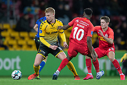 Bjarke Jacobsen (AC Horsens) under kampen i 3F Superligaen mellem FC Nordsjælland og AC Horsens den 19. februar 2020 i Right to Dream Park, Farum (Foto: Claus Birch).