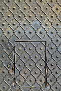 A detail of heavy door at the Jama Masjid (The Friday Mosque), Old Delhi, India.