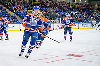 KELOWNA, CANADA - OCTOBER 2: Ryan Nugent-Hopkins #93 of the Edmonton Oilers warms up against Los Angeles Kings on October 2, 2016 at Kal Tire Place in Vernon, British Columbia, Canada.  (Photo by Marissa Baecker/Shoot the Breeze)  *** Local Caption *** Ryan Nugent-Hopkins;
