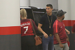 October 10, 2017 - Lisbon, Portugal - Portugal's Cristiano Ronaldo chats with his family in the park garage after the 2018 FIFA World Cup qualifying football match between Portugal and Switzerland at the Luz stadium in Lisbon, Portugal on October 10, 2017. Photo: Pedro Fiuza  (Credit Image: © Pedro Fiuza/NurPhoto via ZUMA Press)