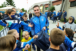 Luka Zinko of Bravo withh young fans after the football match between NK Domzale and NK Aluminij in 36th Round of Prva liga Telekom Slovenije 2020/21, on May 22, 2021 in Sportni park Domzale, Slovenia. Photo by Vid Ponikvar / Sportida