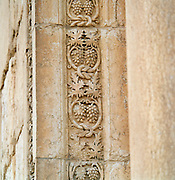 Engravings in the roman ruins of the ancient city Palmyra, Syria