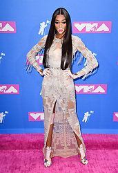 Winnie Harlow arriving at the MTV Video Music Awards 2018, Radio City, New York. Photo credit should read: Doug Peters/EMPICS