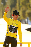 Podium, Geraint Thomas (GBR - Team Sky) Yellow Jersey, winner, during the 105th Tour de France 2018, Stage 21, Houilles - Paris Champs-Elysees (115 km) on July 29th, 2018 - Photo Luca Bettini / BettiniPhoto / ProSportsImages / DPPI
