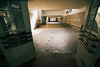 Underground passage in the train station of Zagan, Poland,