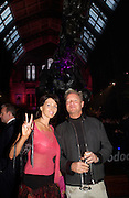 """Tony Hickox and Victoria Smirnof. Vanity Fair magazine hosts the """"Diamonds"""" Private View and Launch Party at the Natural History Museum. July 6  London. ONE TIME USE ONLY - DO NOT ARCHIVE  © Copyright Photograph by Dafydd Jones 66 Stockwell Park Rd. London SW9 0DA Tel 020 7733 0108 www.dafjones.com"""