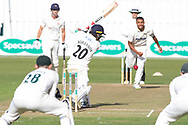 WICKET Josh Bohannon is caught at slip off Ben Mike during the Specsavers County Champ Div 2 match between Leicestershire County Cricket Club and Lancashire County Cricket Club at the Fischer County Ground, Grace Road, Leicester, United Kingdom on 25 September 2019.