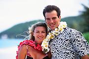 Couple in leis, Hawaii