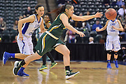 April 4, 2016; Indianapolis, Ind.; Sierra Afoa gathers the loose ball in the NCAA Division II Women's Basketball National Championship game at Bankers Life Fieldhouse between UAA and Lubbock Christian. The Seawolves lost to the Lady Chaps 78-73.