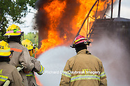 63818-02518 Firefighters at oilfield tank training, Marion Co., IL