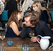 ALEX SHULMAN; MIKE TROW; EDIE CAMPBELL, Leaving dinner for Kate Phelan given by Alex Shulman and Mary Homer. Riding House Cafe. Great Titchfield st. London. 20 September 2011. <br /> <br />  , -DO NOT ARCHIVE-© Copyright Photograph by Dafydd Jones. 248 Clapham Rd. London SW9 0PZ. Tel 0207 820 0771. www.dafjones.com.