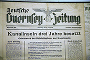 Newspaper from occupation years, German Underground Military hospital, Guernsey, Channel Islands, UK