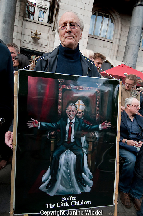10,000 people march through central London to protest the visit of Pope Benedict on 18 September 2010