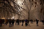 New Year's Eve (December 31) in Belgrade, Serbia. Parliament square and Pionirski Park