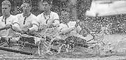 Peter Spurrier <br /> email images@sportsbeat.co.uk<br /> Boat Race.<br /> <br /> Umpire, Rupert Obholzer, explains his decision to restart the race soon after the start. [Mandatory Credit; Peter SPURRIER/Intersport Images]<br /> <br /> 20010324 University Boat Race, Putney to Mortlake, London, Great Britain.