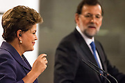 Brazil's president Dilma Rousseff press conference