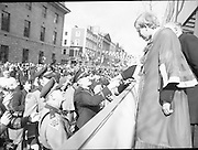 St Patrick's Day Parade.1982.17/03/1982.03.17.1982.The Lord Mayor, Alderman Fitzgerald, meets and greets the state troopers