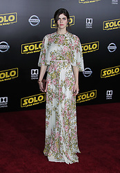 Solo: A Star Wars Story Premiere - Los Angeles. 10 May 2018 Pictured: Alexandra Daddario. Photo credit: Jaxon / MEGA TheMegaAgency.com +1 888 505 6342