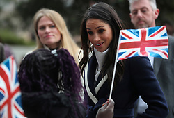 Meghan Markle on a walkabout during a visit to Millennium Point in Birmingham, as part of the latest leg in the regional tours that she and Prince Harry are undertaking in the run-up to their May wedding.