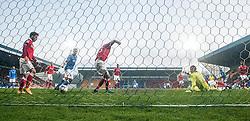 St Johnstone's James McFadden's first goal.<br /> St Johnstone 2 v 1 Ross County, Scottish Premiership 22/11/2014 at St Johnstone's home ground, McDiarmid Park.