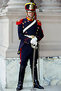 Ceremonial guard at the Presidential Palace Casa Rosada in Buenos Aires, Argentina