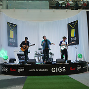 London, UK. 3rd September 2017.Guest singer Tailormade band od five preforms at the Mayor Of London Gigs at Westfield London.