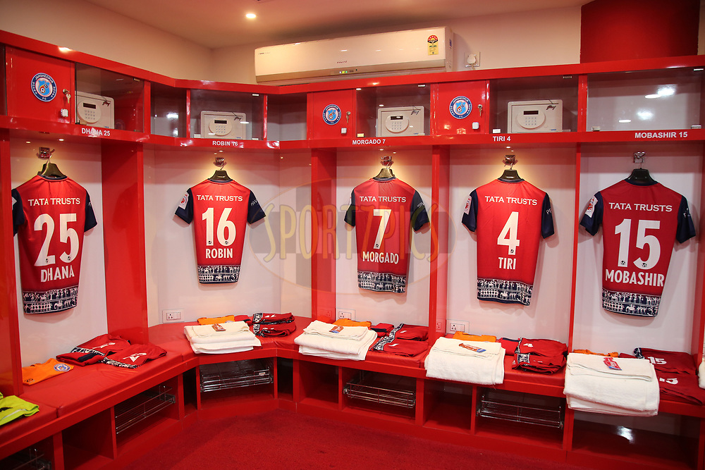 Jamshedpur FC dressing room before the start of the match 25 of the Hero Indian Super League 2018 ( ISL ) between Jamshedpur FC and FC Goa held at JRD Tata Sports Complex, Jamshedpur, India on the 1st November  2018<br /> <br /> Photo by: Deepak Malik /SPORTZPICS for ISL