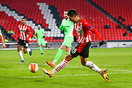 Joel Piroe of PSV Eindhoven scores his sides third goal during the UEFA Europa League, Group E football match between PSV and Omonia Nicosia on December 10, 2020 at Philips Stadion in Eindhoven, Netherlands - Photo Perry vd Leuvert / Orange Pictures / ProSportsImages / DPPI