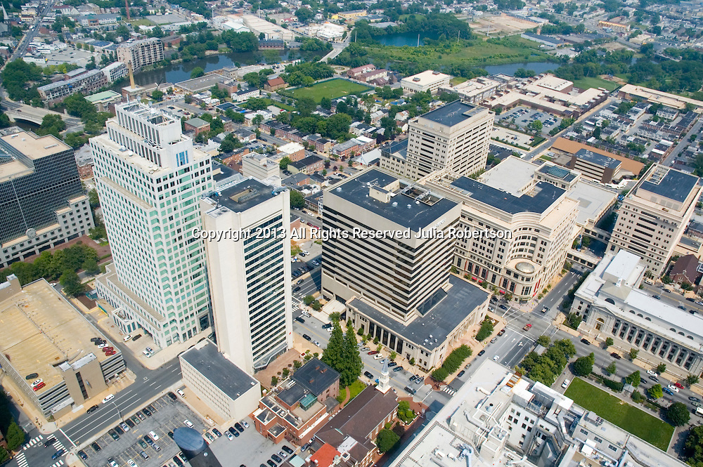 Aerial view of the Bank of America, Wilmington Delaware