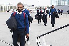 Departure of Belgian soccer team Standard de Liege to Russia - 06 Nov 2018
