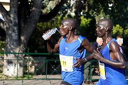 November 11, 2018 - Athens, Greece - Marathon athletes running, during the 2018 Athens Marathon, (Credit Image: © Aristidis VafeiadakisZUMA Wire)