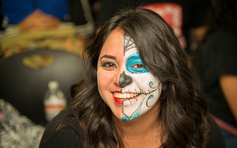 A student at North Early College wears makeup, October 31, 2013.